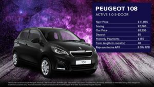108 Active 5-Door· £150 per month with £0 deposit