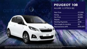 108 Allure 1.2l PureTech· £166 per month with £0 deposit