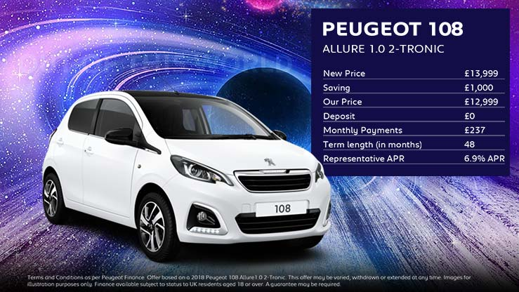 108 Allure 2-Tronic · £237 per month with £0 deposit