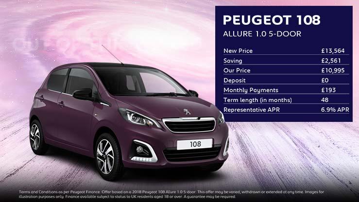 108 Allure 5-door · £193 per month with £0 deposit