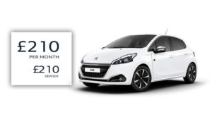 Passport | £210 deposit | £210 per month | 208 Tech Edition 1.2-litre 5-door