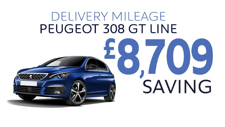 Delivery Mileage Savings: Magnetic Blue 308 GT-Line EAT8 Auto