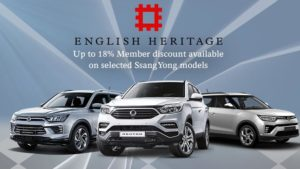 english heritage-members-ssangyong-discount-18-percent-an