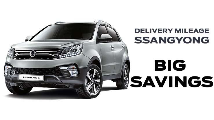 Save  £2505 on Delivery Mileage Korando LE Manual