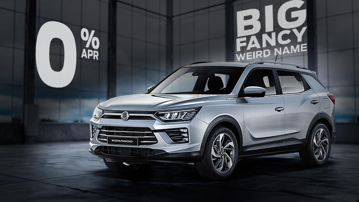 Hire Purchase | £13033 deposit | £369 per month | New Korando Ultimate Diesel Auto