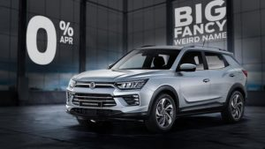 Hire Purchase | £9053 deposit | £379 per month | New Korando Pioneer 1.6 Diesel Auto