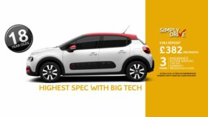 Highest specificiation Citroen C3 on SimplyDrive Telematics for just £382 per month with inclusive car insurance