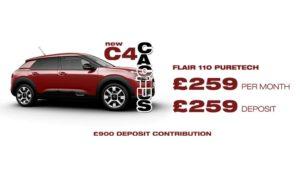 C4 Cactus 110 Flair £259 deposit | £259 per month | PCP