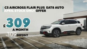 C5 Aircross Flair Plus on sale £309 a month with £309 deposit