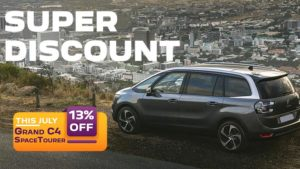 13% discount during July on Grand C4 SpaceTourer