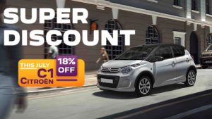 18% discount during July on Citroen C1
