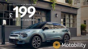 new-citroen-e-c4-exclusive-motability-offer-an